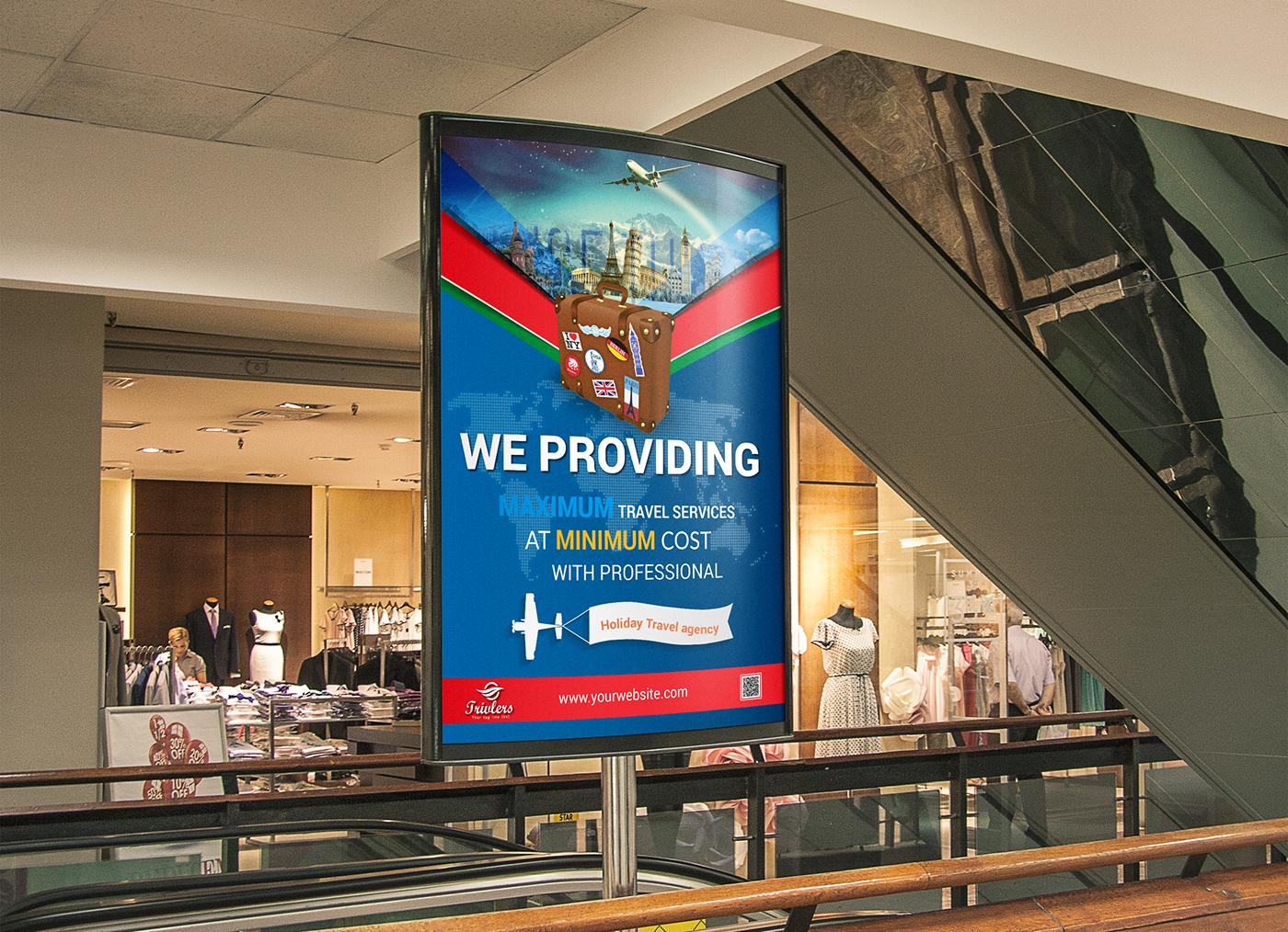 travel agency billboard