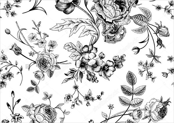 vintage black white pattern