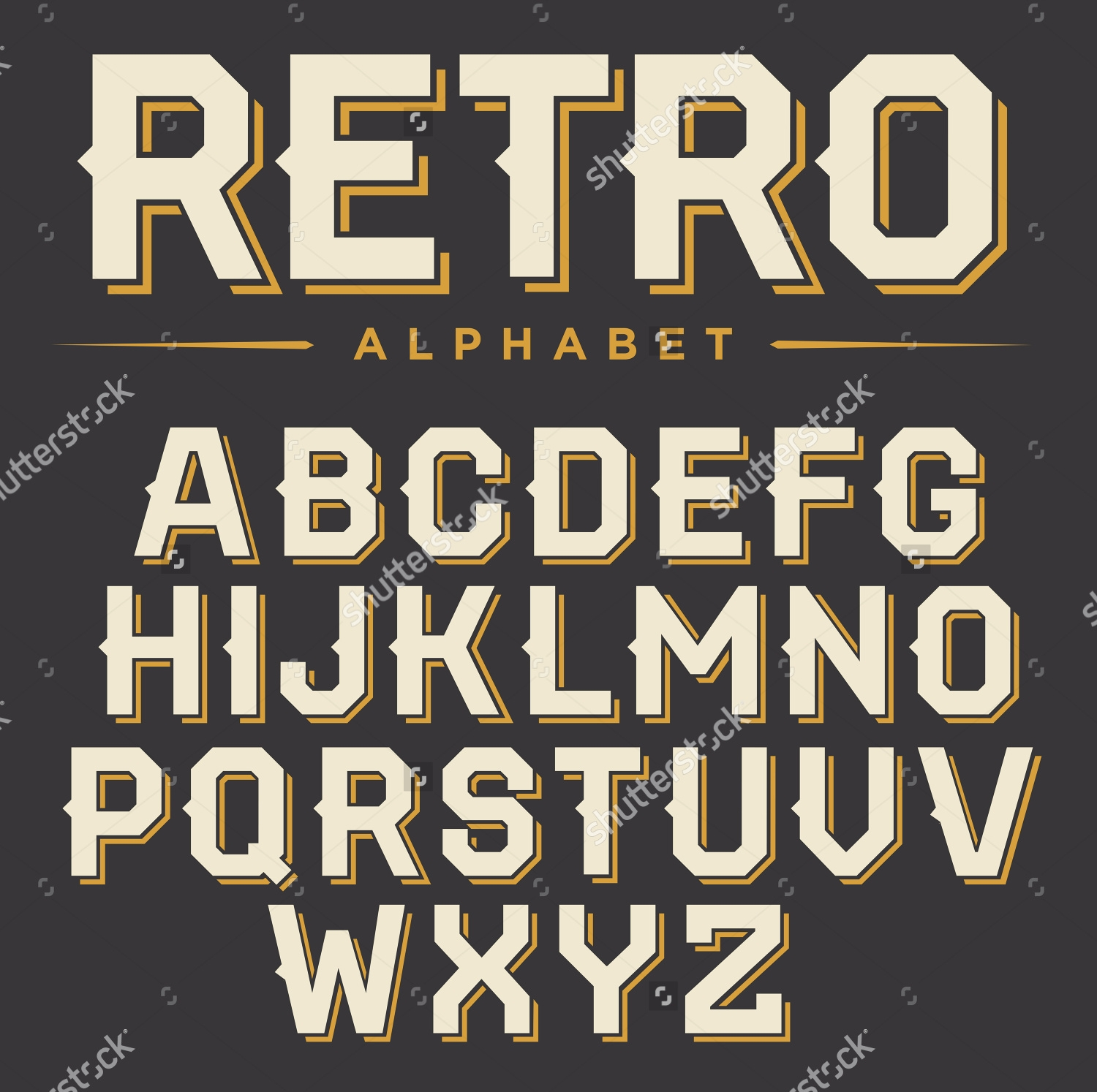 vintage fonts typography