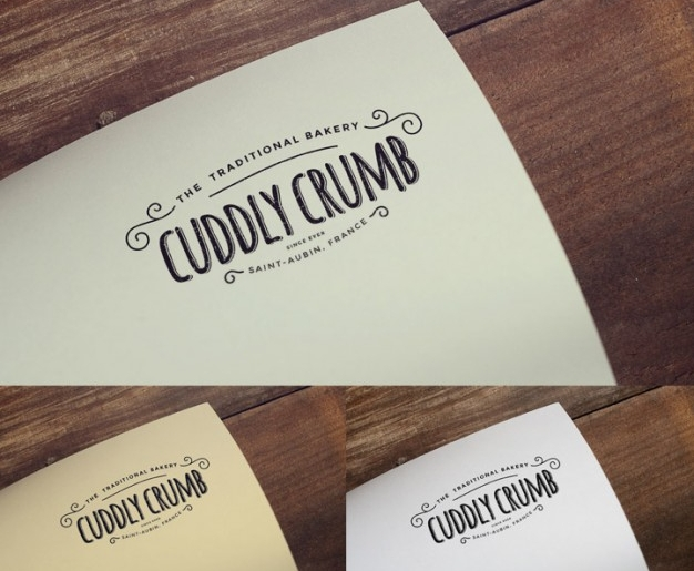 vintage logo mock up template