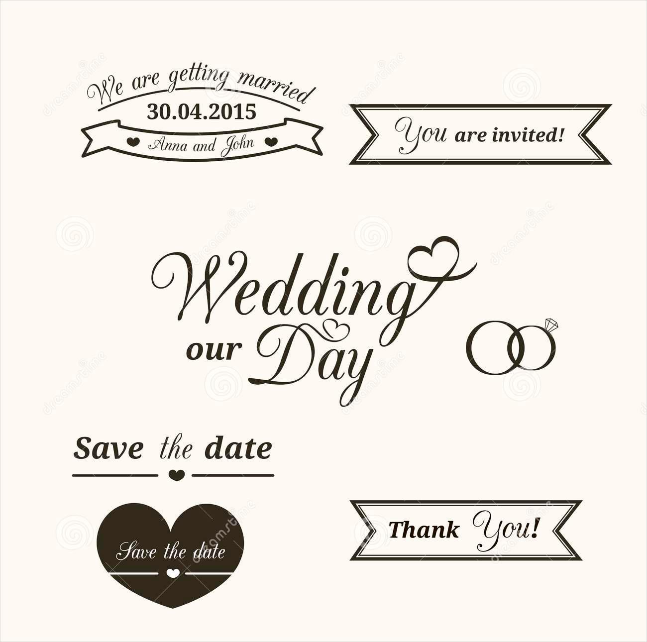 vintage wedding typography