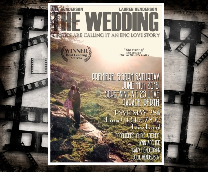 wedding movie poster design3