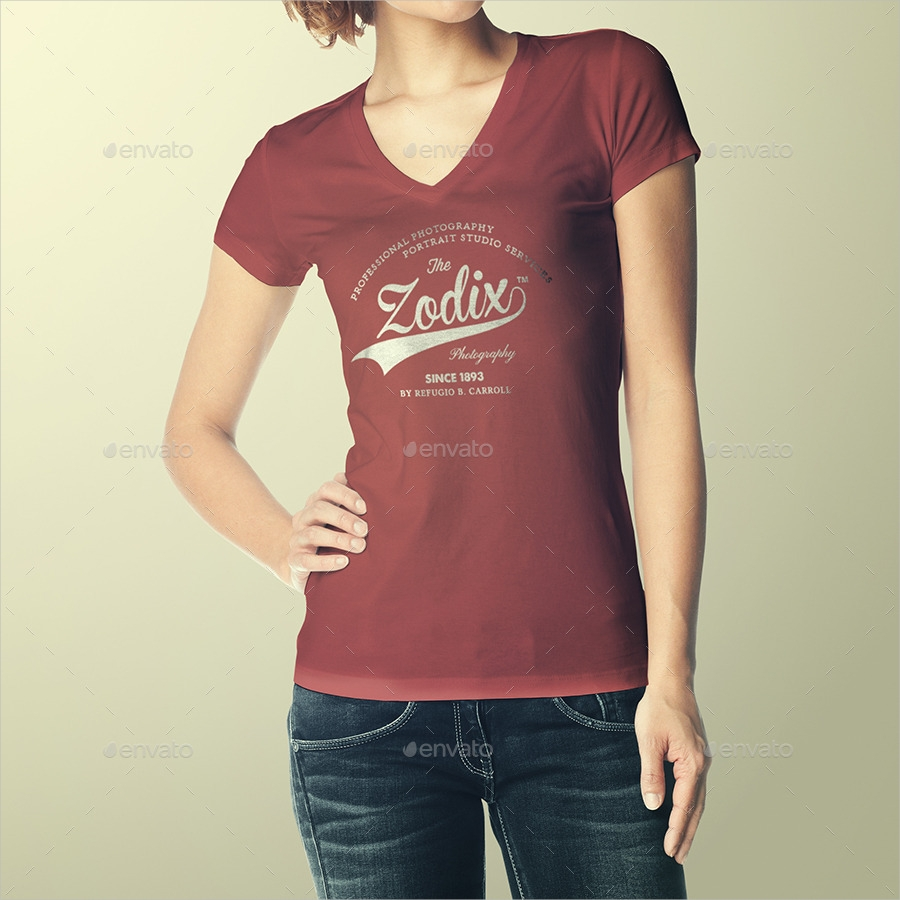 woman t shirt mock up
