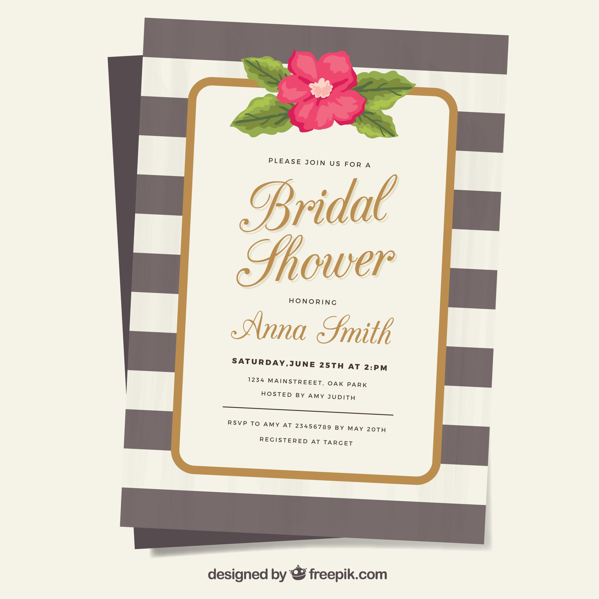 7+ Best Bridal Shower Invitation Designs