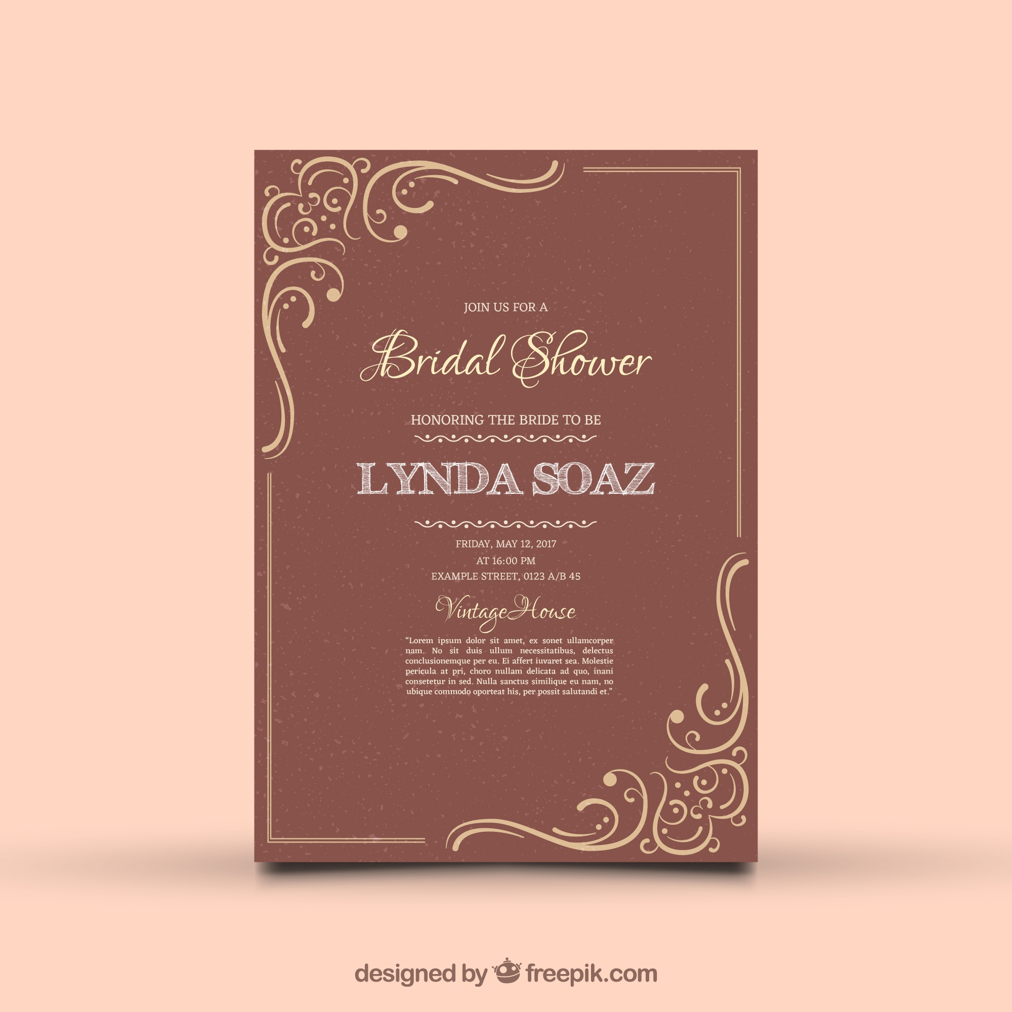 7+ Best Bridal Shower Invitation Designs