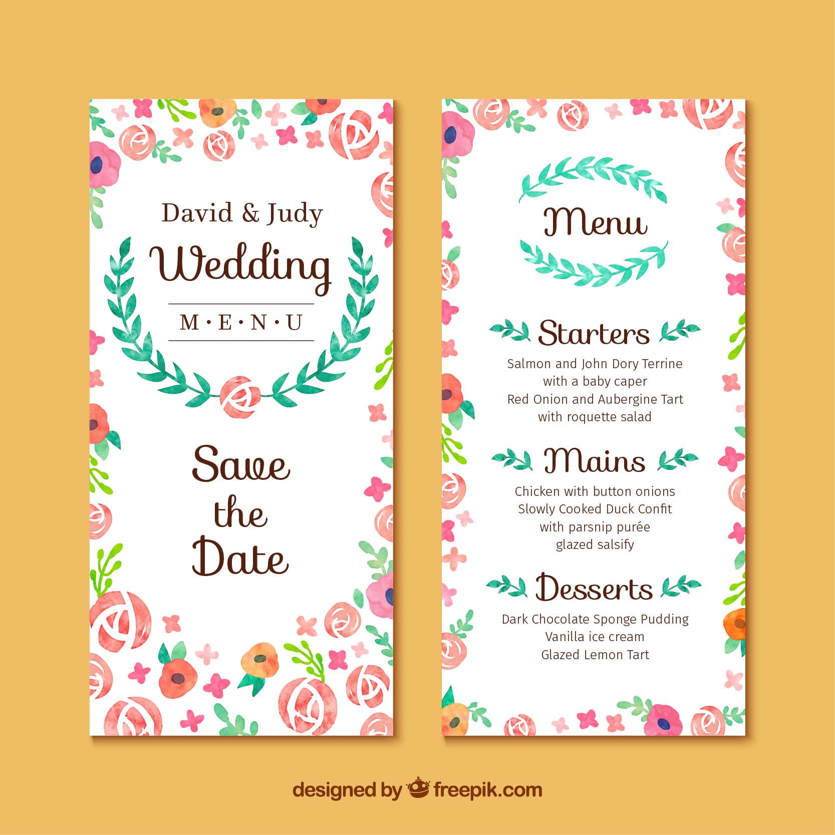 Wedding Menu Ideas: 6+ Wedding Menu Ideas