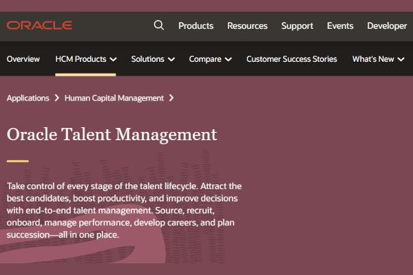 oracle talent cloud