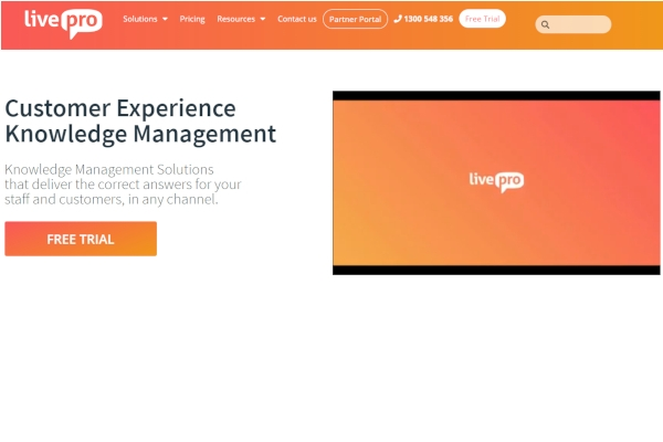 livepro knowledge management