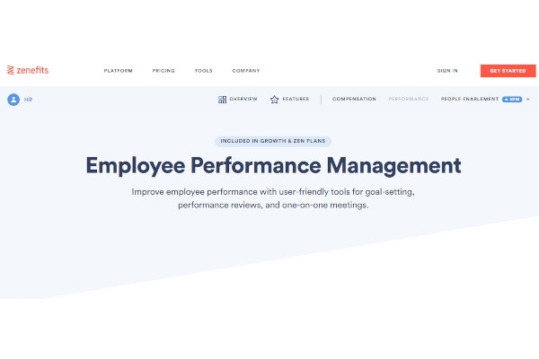 zenefits performance management