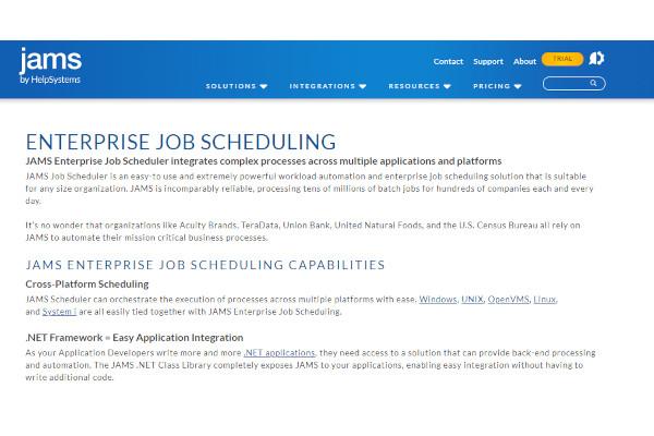 jams enterprise job scheduler