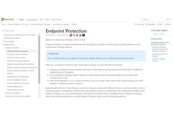 microsoft endpoint protection