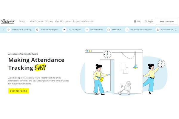 personio time attendance software