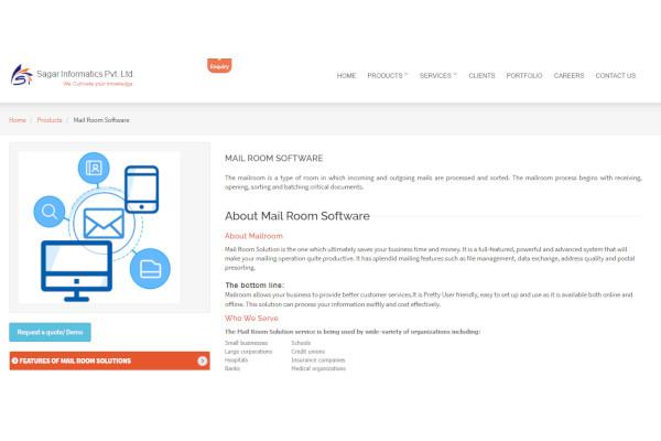 sagar mail room software