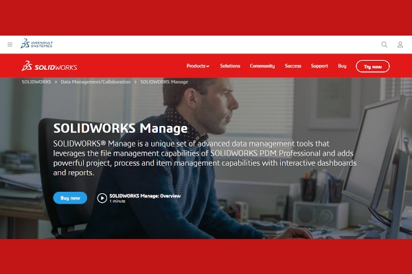 solidworks manage