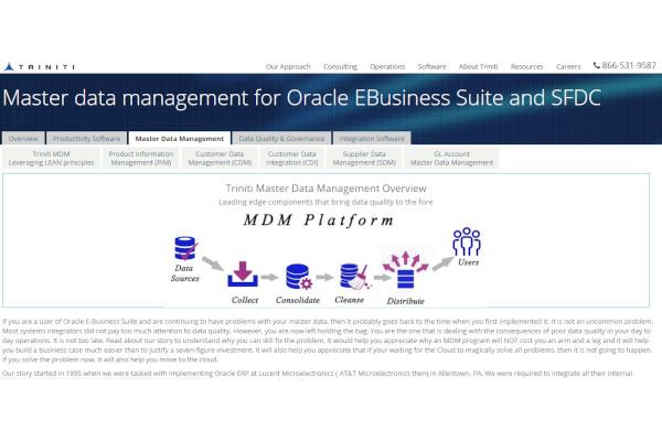triniti master data management
