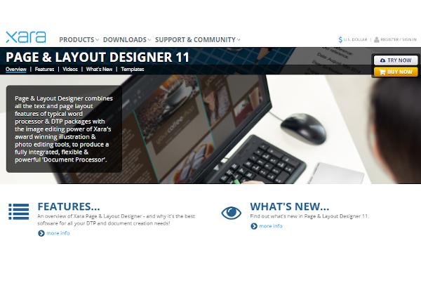 xara page layout designer