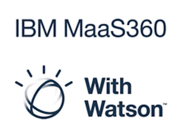 ibm security logo maas360 with watson software logo