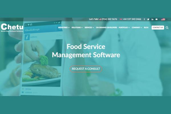 chetu food service management software