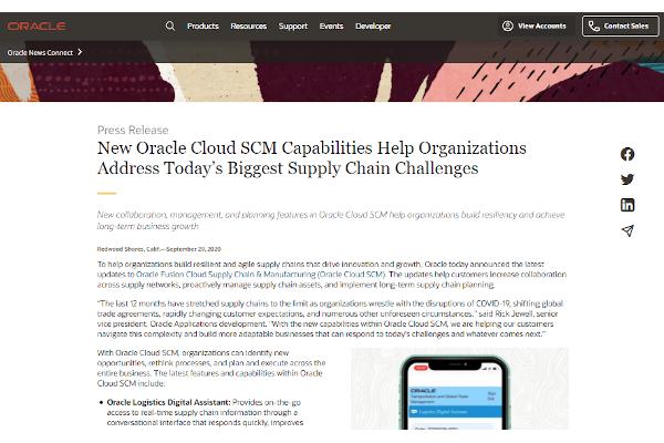oracle scm cloudss