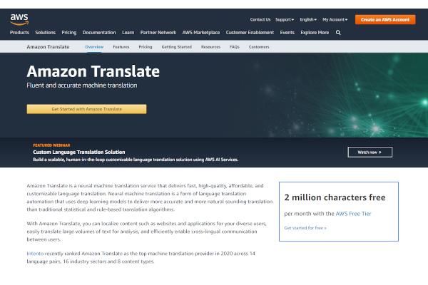 amazon translate