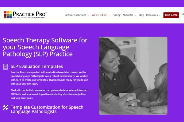 practice pro speech therapy software