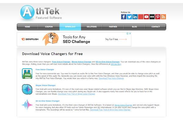 athtek free voice changer