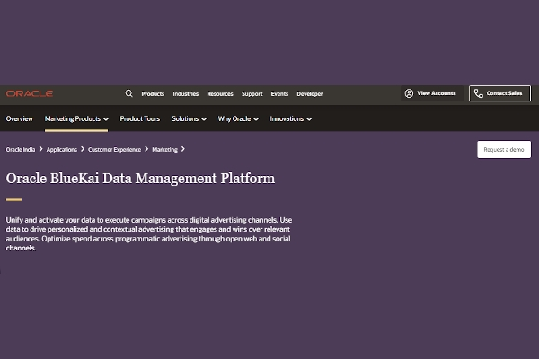 oracle bluekai data management platform