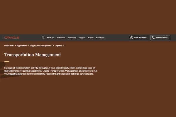 oracle transportation management cloud