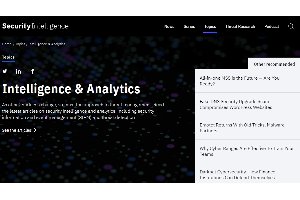 security and intelligence analytics
