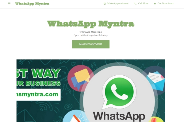 whatsapp myntra