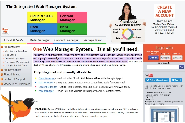 younicycle web manager system