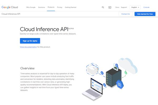 google cloud interference api