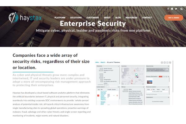 haystax enterprise security solution