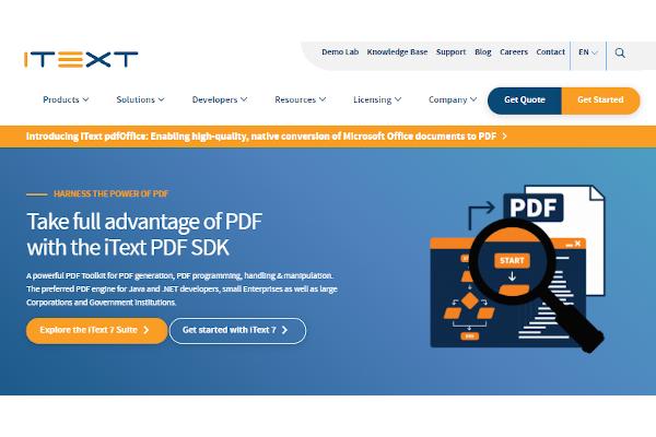 itext pdf librarysdk
