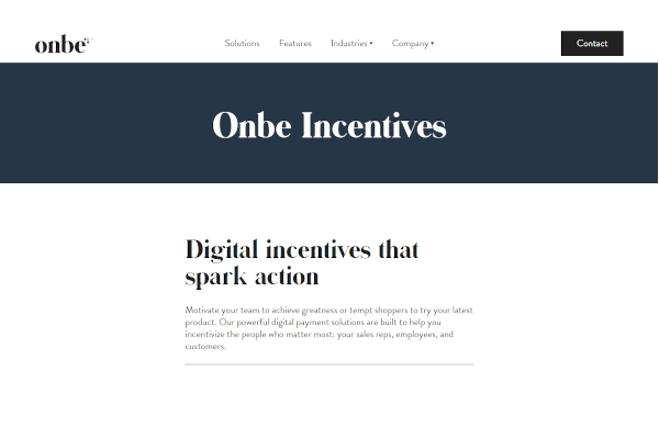 onbe incentives