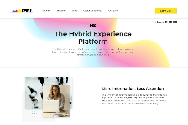 pfl hybrid experience platform