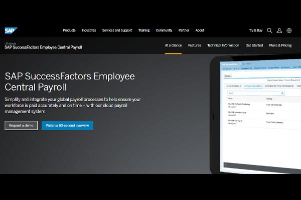 sap successfactors employee central payroll