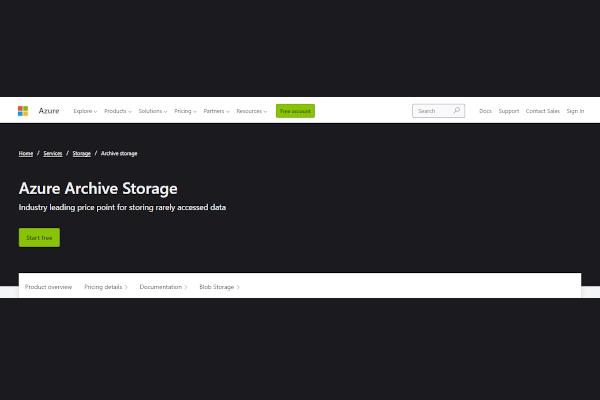 azure archive storage