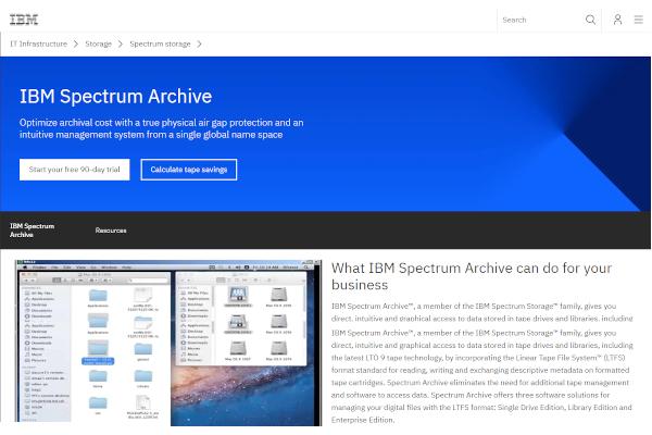 ibm spectrum archive